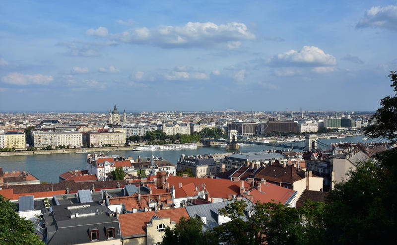 Budapest and Danube panorama stock photography