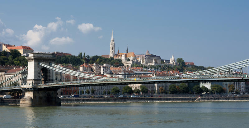 Budapest and Danube panorama royalty free stock image