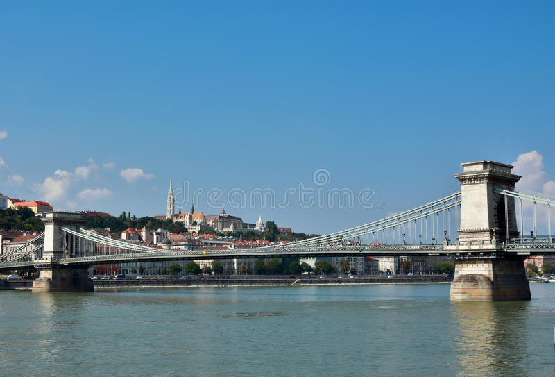 Budapest and Danube panorama stock photos