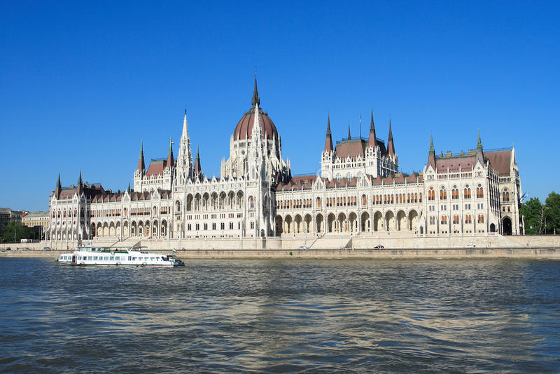 Budapest, das Gebäude des Parlaments stockbilder
