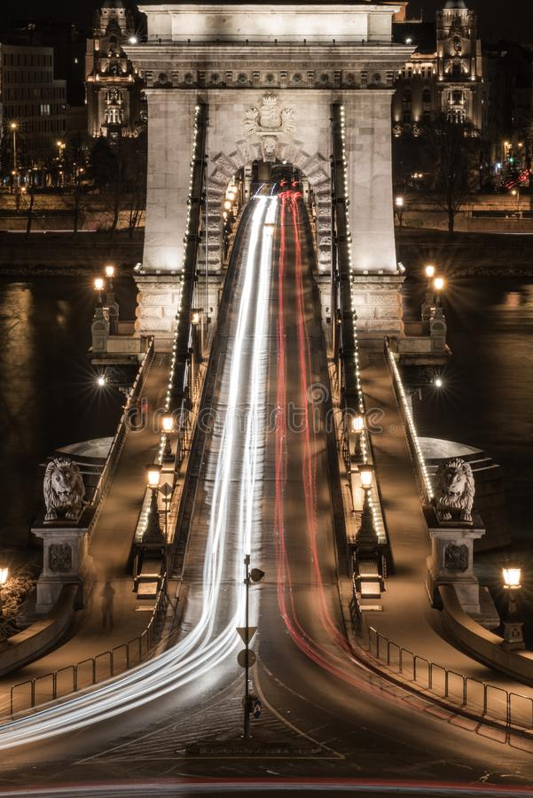 Budapest den Chain bron arkivbild