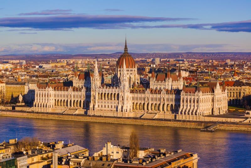 budapest dzień Hungary parlament pogodny obrazy royalty free