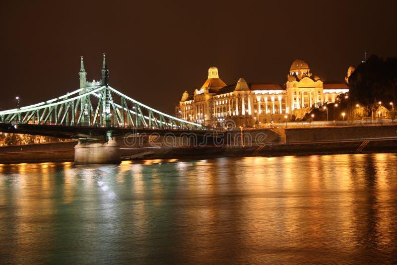 Budapest en la noche imágenes de archivo libres de regalías