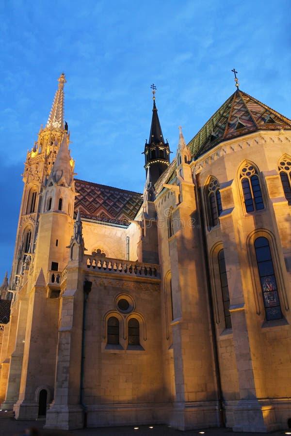 Budapest en soirée images libres de droits