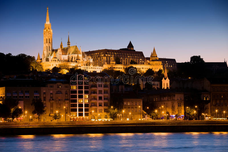 Budapest at Evening royalty free stock photo