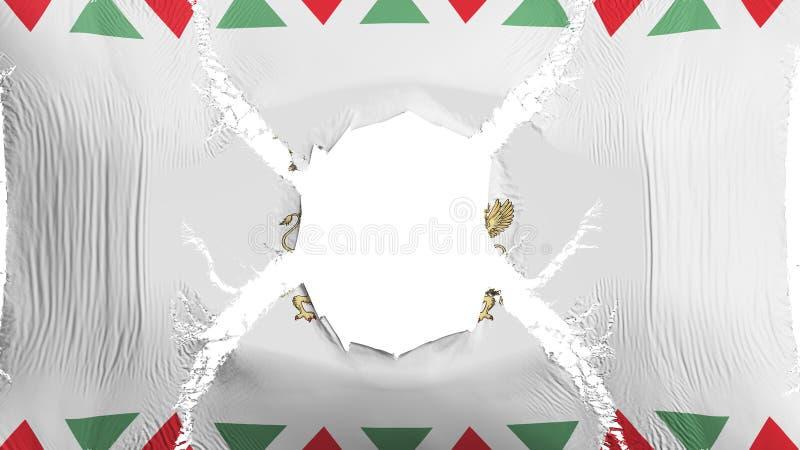 Budapest flaga z dziurą ilustracja wektor