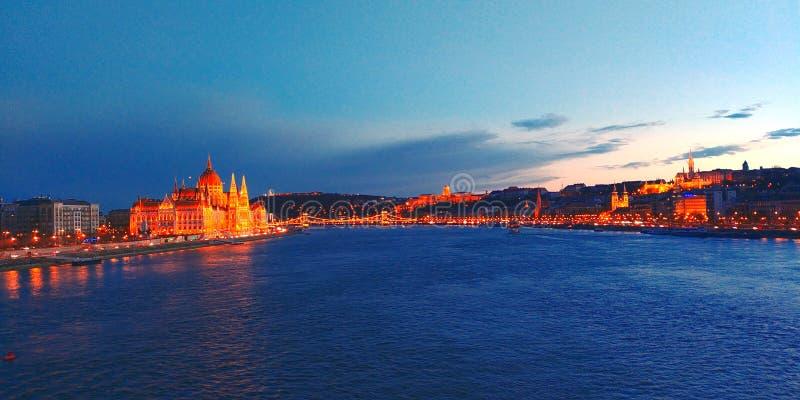Budapest flod royaltyfri fotografi