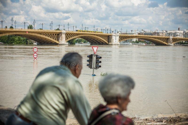 Budapest-Fluten stockbilder