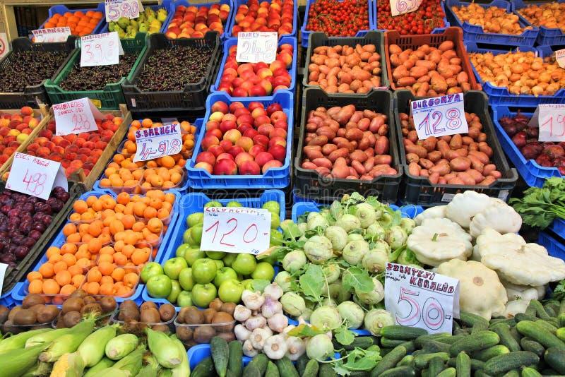 Budapest food market royalty free stock image
