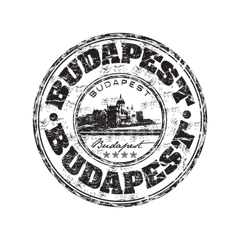 Budapest grunge Stempel vektor abbildung