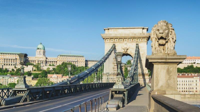 Budapest-Hängebrücke stockfotos