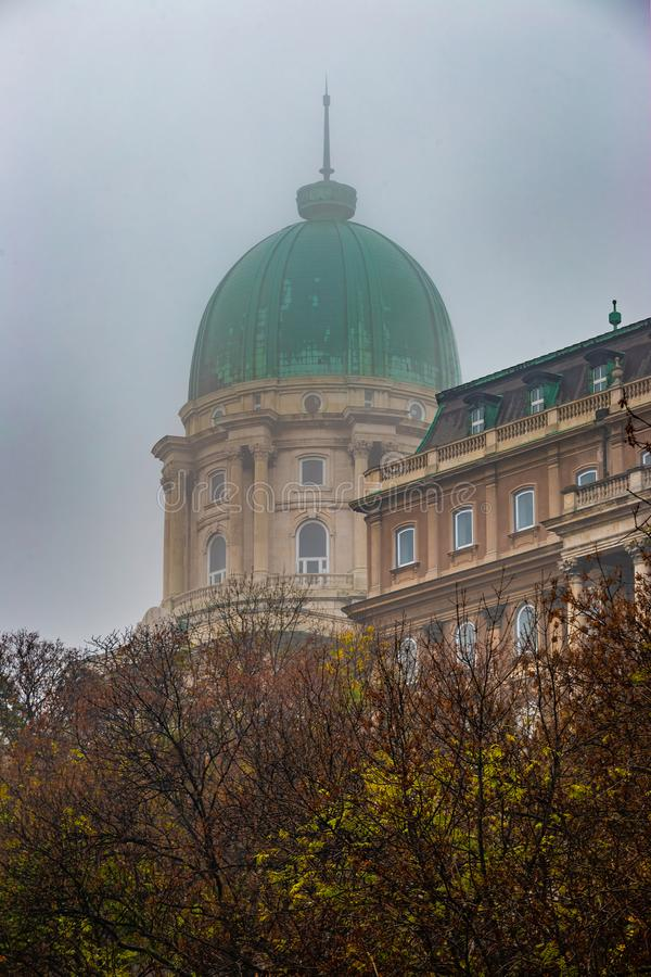 Budapest, Hongrie - Buda Castle Royal Palace célèbre images stock