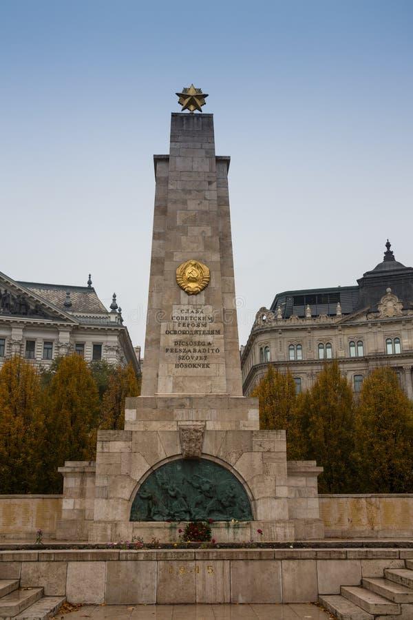 BUDAPEST, HONGRIE - 14 février 2016 Monument héroïque soviétique à Budapest photographie stock