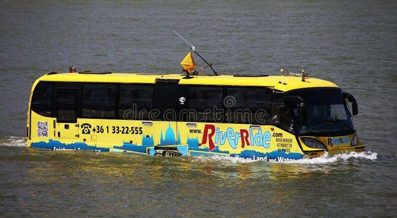 Budapest, Hongrie - juin, 02, 2018 - l'autobus amphibie photographie stock