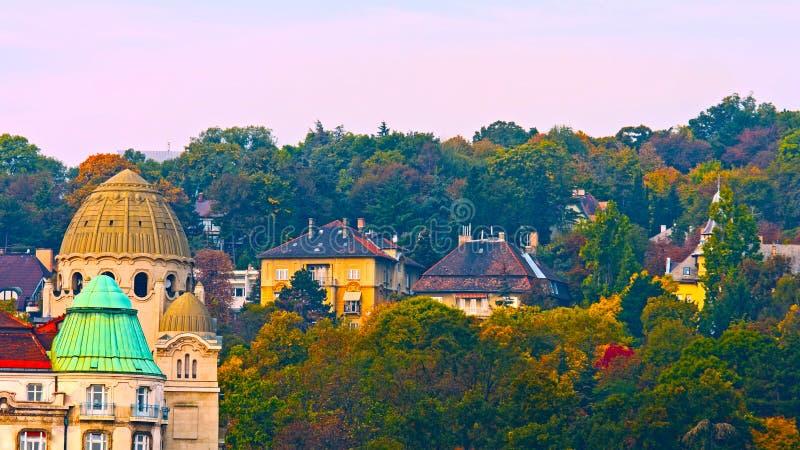 """Budapest, Hongrie - l'AMI 01, 2019 : Une vue de paysage de coucher du soleil parc de bastion à pêcheur """", Budapest, Hongrie image stock"""
