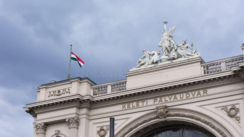 Budapest, Hongrie 03 15 2019 La station de train de Keleti est la gare ferroviaire la plus occupée de Budapest photo libre de droits