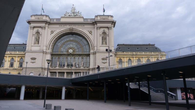 Budapest, Hongrie 03 15 2019 La station de train de Keleti est la gare ferroviaire la plus occupée de Budapest image libre de droits