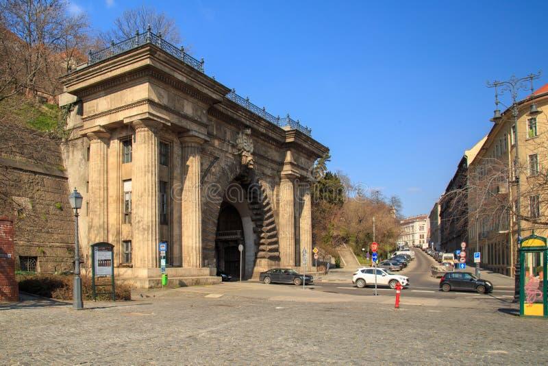 Budapest, Hongrie, le 22 mars 2018 : Adam Clark Tunnel Buda Castle Tunnel sous la colline de château à Budapest, Hongrie image libre de droits