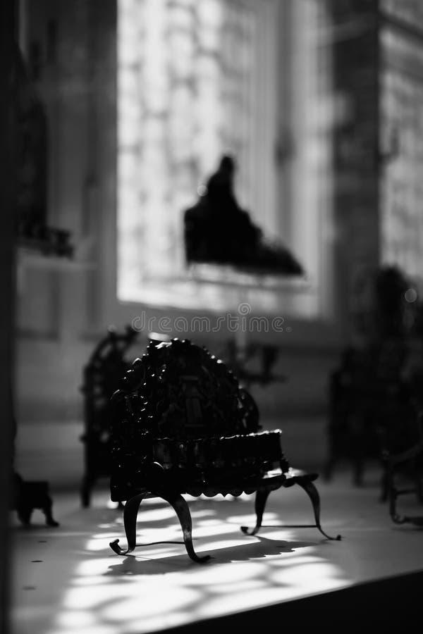 BUDAPEST, HONGRIE 30 mars 2017 : Objets juifs de culte à l'intérieur du musée à la grande synagogue sur la rue de Dohany photos stock