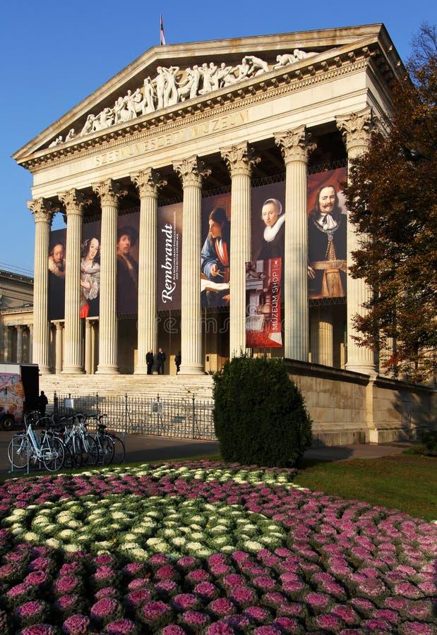 BUDAPEST/HONGRIE - 4 NOVEMBRE : Musée des beaux-arts à Budapest, fea images stock
