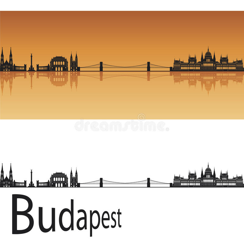 budapest horisont royaltyfri illustrationer