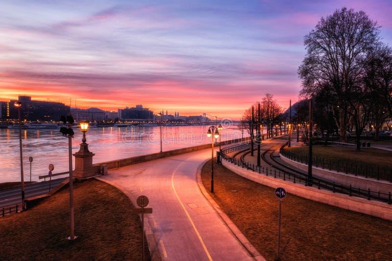 Budapest horisont, härlig cityscape av det historiska området, Ungern, Europa fotografering för bildbyråer