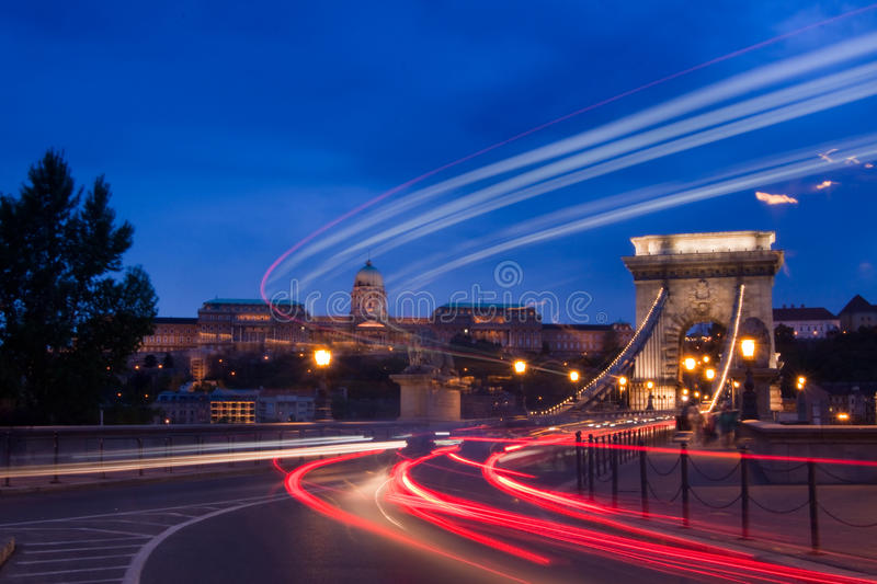 Budapest-Hungary. Night lights in Budapest-Hungary-Europe stock image