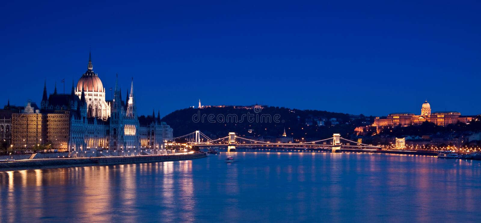 Budapest-Hungary. Night lights in Budapest-Hungary-Europe royalty free stock photo