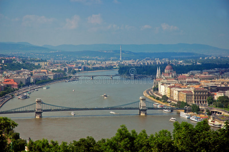Budapest - Hungary. Panoramic view of Budapest - Hungary - Europe stock image
