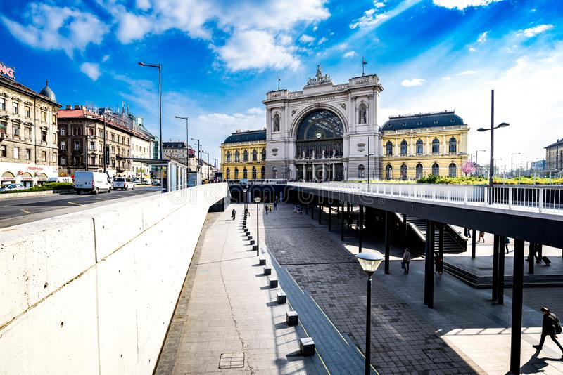Keleti railway station in Budapest royalty free stock photos