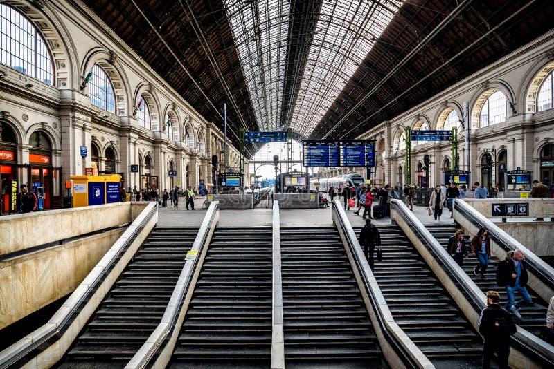 Keleti railway station in Budapest stock photography