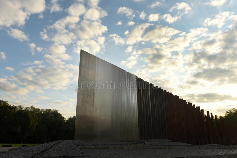 Budapest, Hungary - August 29, 2017: Memorial to the 1956 Revolution in Budapest, Hungari. Monument of the 1956 Hungarian royalty free stock image