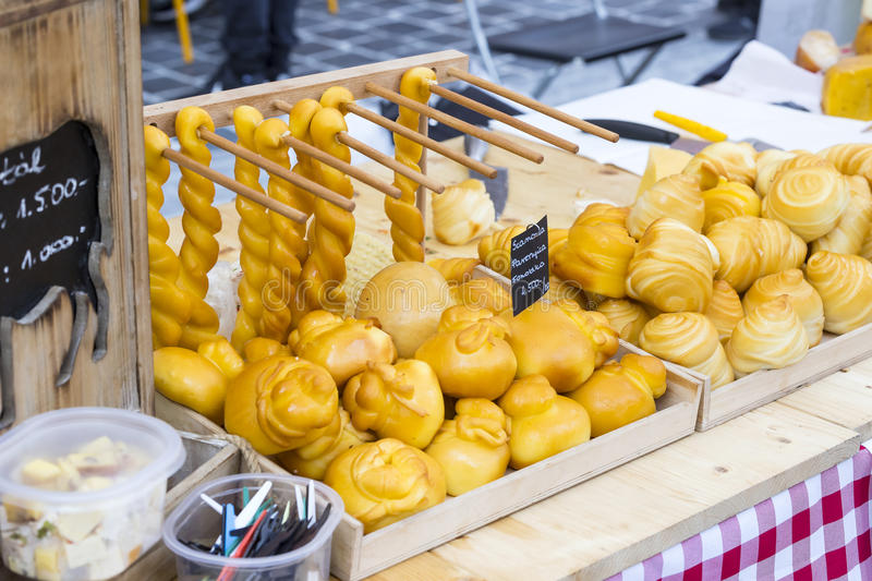 Traditional folk fair in honor of Saint István and the first bread in Hungary with folk masters. Budapest. Hungary. BUDAPEST, HUNGARY - AUGUST 19, 2017 stock photo