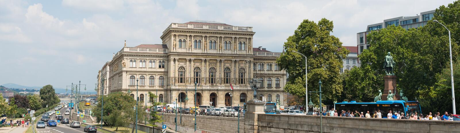 Academy of Sciences - Budapest - Hungary stock image