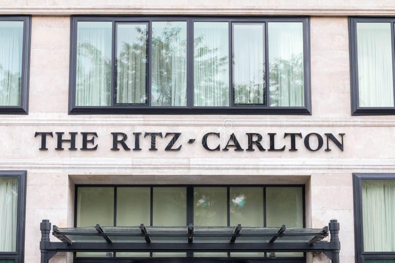 Budapest/Hungary-01 09 18- Carlton de Ritz en centro turístico del hotel de lujo de Budapest Hungría fotos de archivo libres de regalías