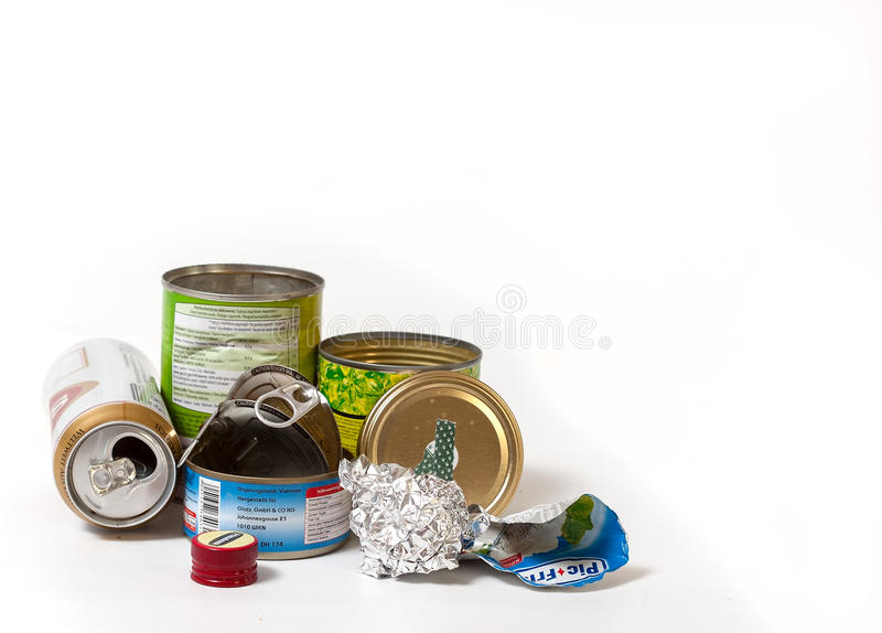 Budapest, Hungary - December 3, 2012: A variety of recyclable me stock image