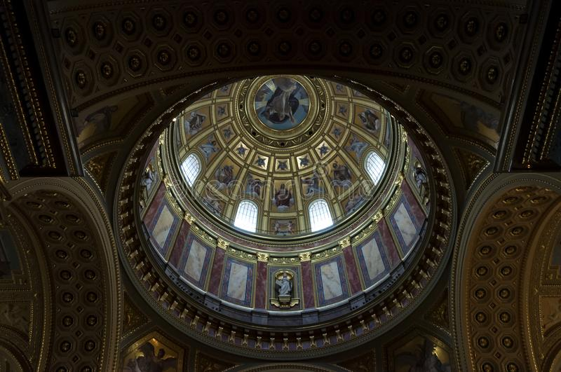 Dome of the St. Stephen`s Basilica stock image