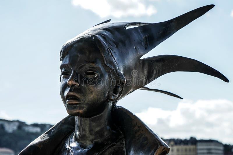 BUDAPEST, HUNGARY/EUROPE - 21 DE SEPTIEMBRE: Estatua de Kiskiralany adentro imagen de archivo libre de regalías