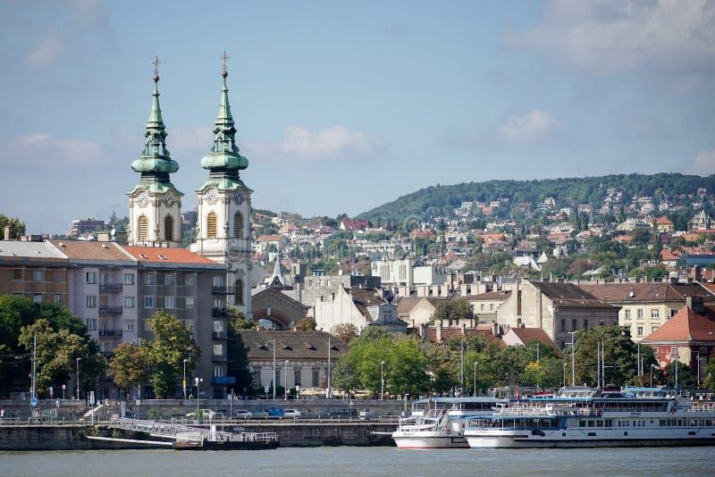 BUDAPEST, HUNGARY/EUROPE - 21 SETTEMBRE: Szent Anna Templom dentro fotografie stock libere da diritti