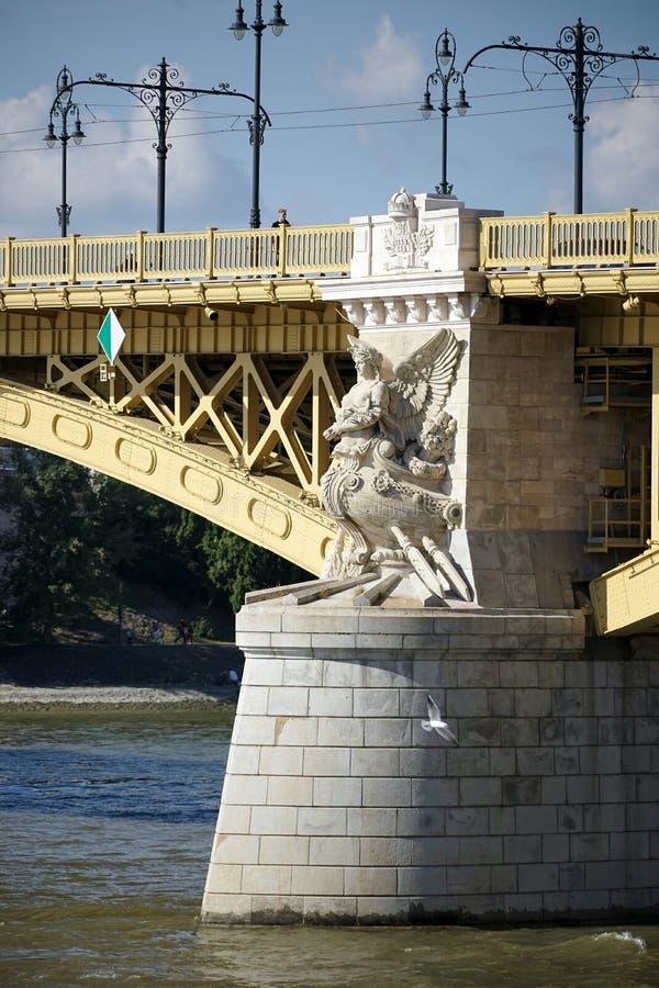BUDAPEST, HUNGARY/EUROPE - WRZESIEŃ 21: Margaret most w pączku zdjęcie royalty free