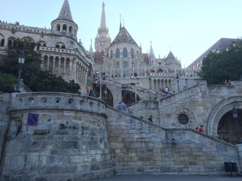 Budapest Hungary Fishermans Bastion royalty free stock photo