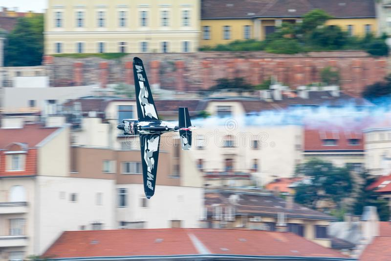 Red Bull Air Race World Championship 2018. BUDAPEST, HUNGARY - JUN 26, 2018: The qualifying session of the Red Bull Air Race World Championship 2018 stock images