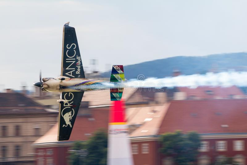 Red Bull Air Race World Championship 2018. BUDAPEST, HUNGARY - JUN 26, 2018: The qualifying session of the Red Bull Air Race World Championship 2018 royalty free stock photo