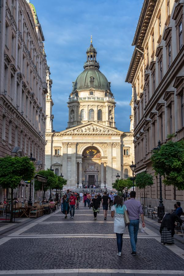 St Stephens Basilica Vertical View royalty free stock image