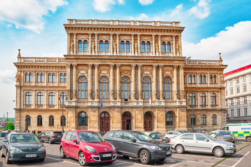 BUDAPEST, HUNGARY-MAY 02, 2016: Hungarian Academy of Sciences-is the most important and prestigious learned society of Hungary. I royalty free stock photography
