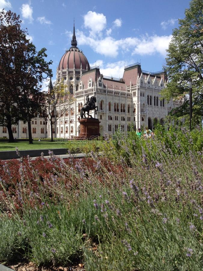 budapest hungary parlament arkivbild