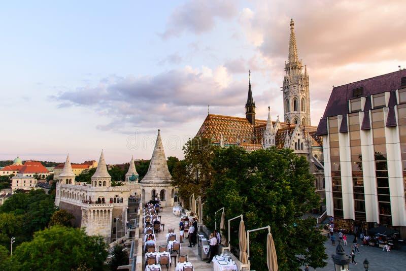 Budapest, Hungría - 16 de agosto de 2018: Castillo de Budapest Buda con imagen de archivo libre de regalías