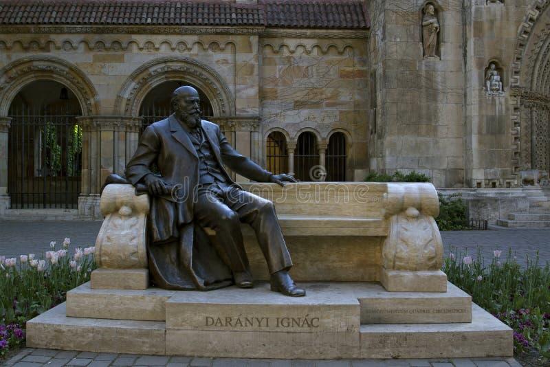Budapest, Hungría el 28 de abril, 2918 Estatua del ¡c de Ignà del nyi del ¡de Darà en parque de la ciudad en el patio del castill fotografía de archivo libre de regalías