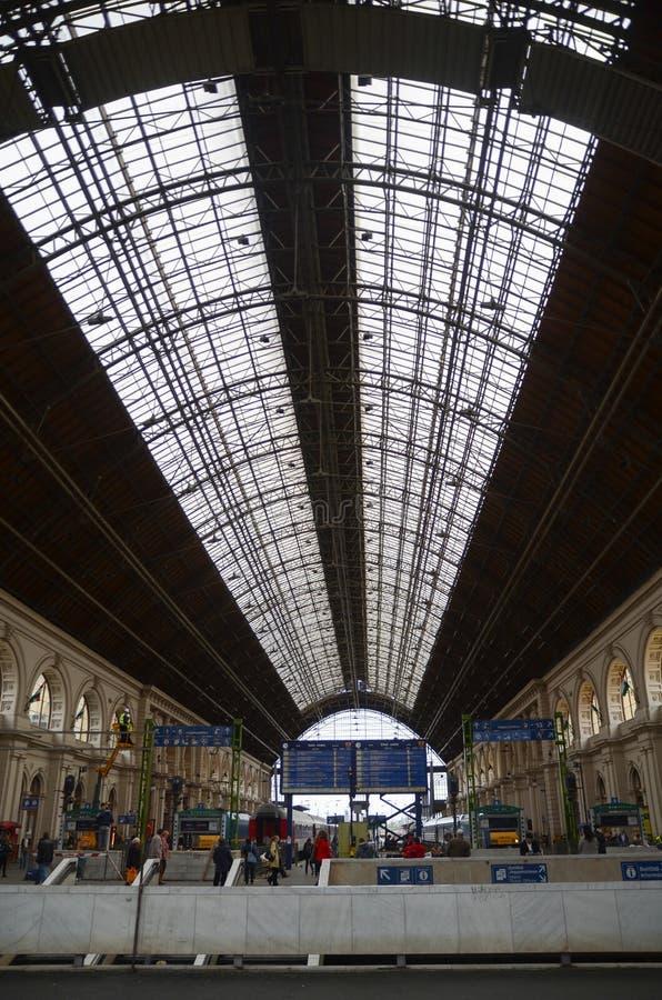 Budapest, Hungría Ferrocarril de Keleti foto de archivo libre de regalías