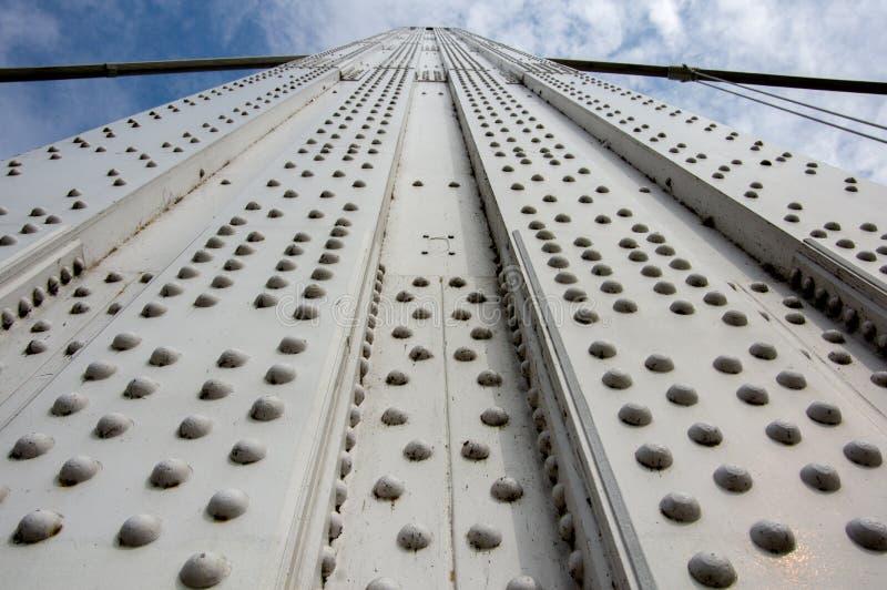 Budapest, Hungria - 7 de agosto de 2014 Fragmento da ponte de Erzbet nas pontes de Budapest - vistas de Budapest do capital do pe fotos de stock royalty free